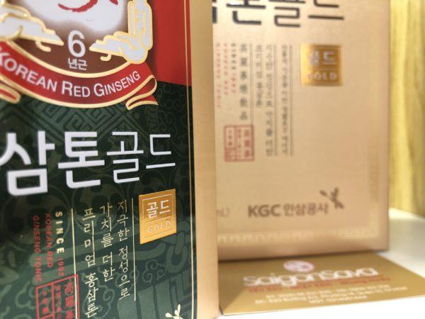 Nước hồng sâm tonic gold 30 gói kgc