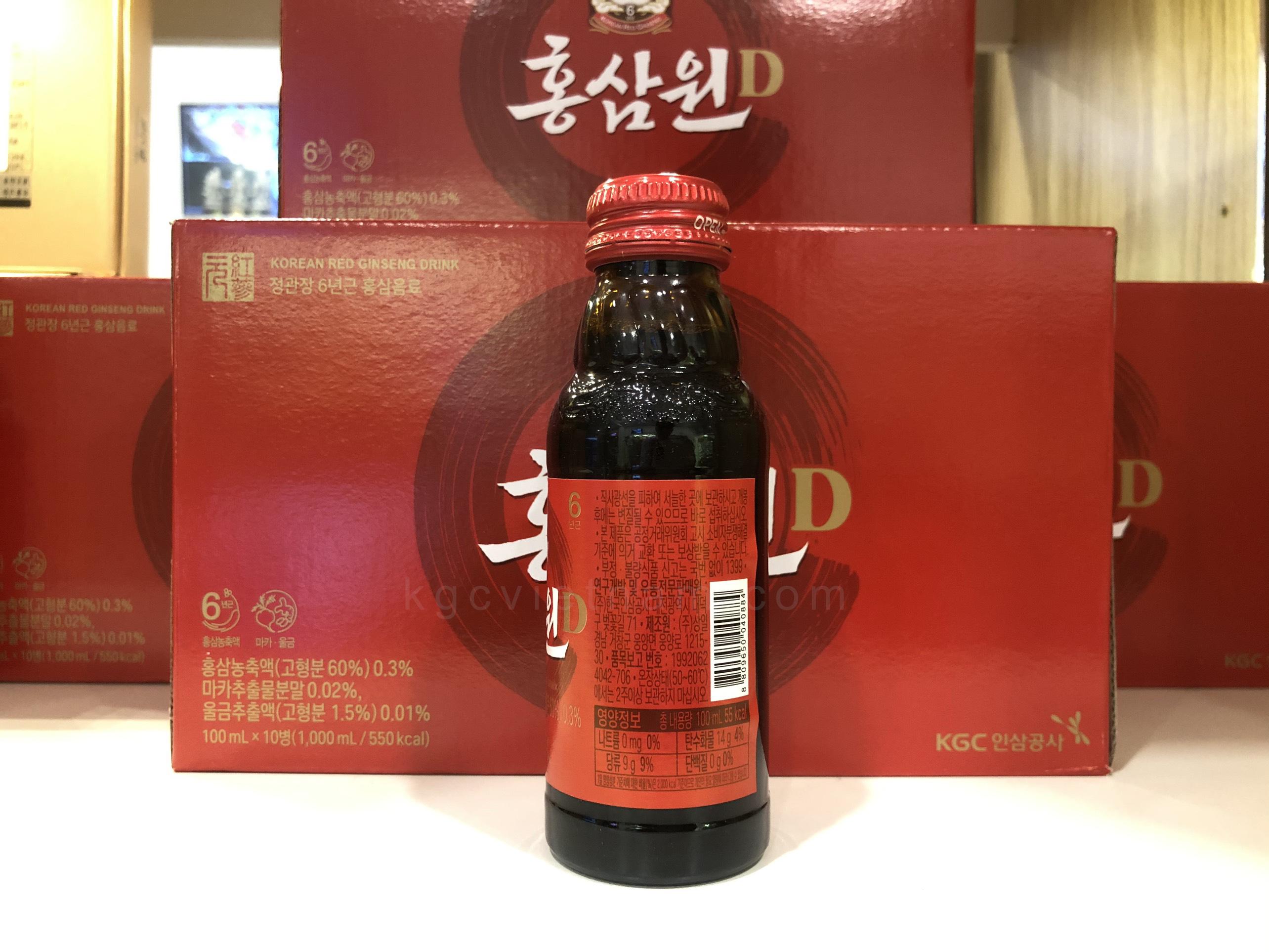 nước hồng sâm khc won 10 chai cheong kwan jang
