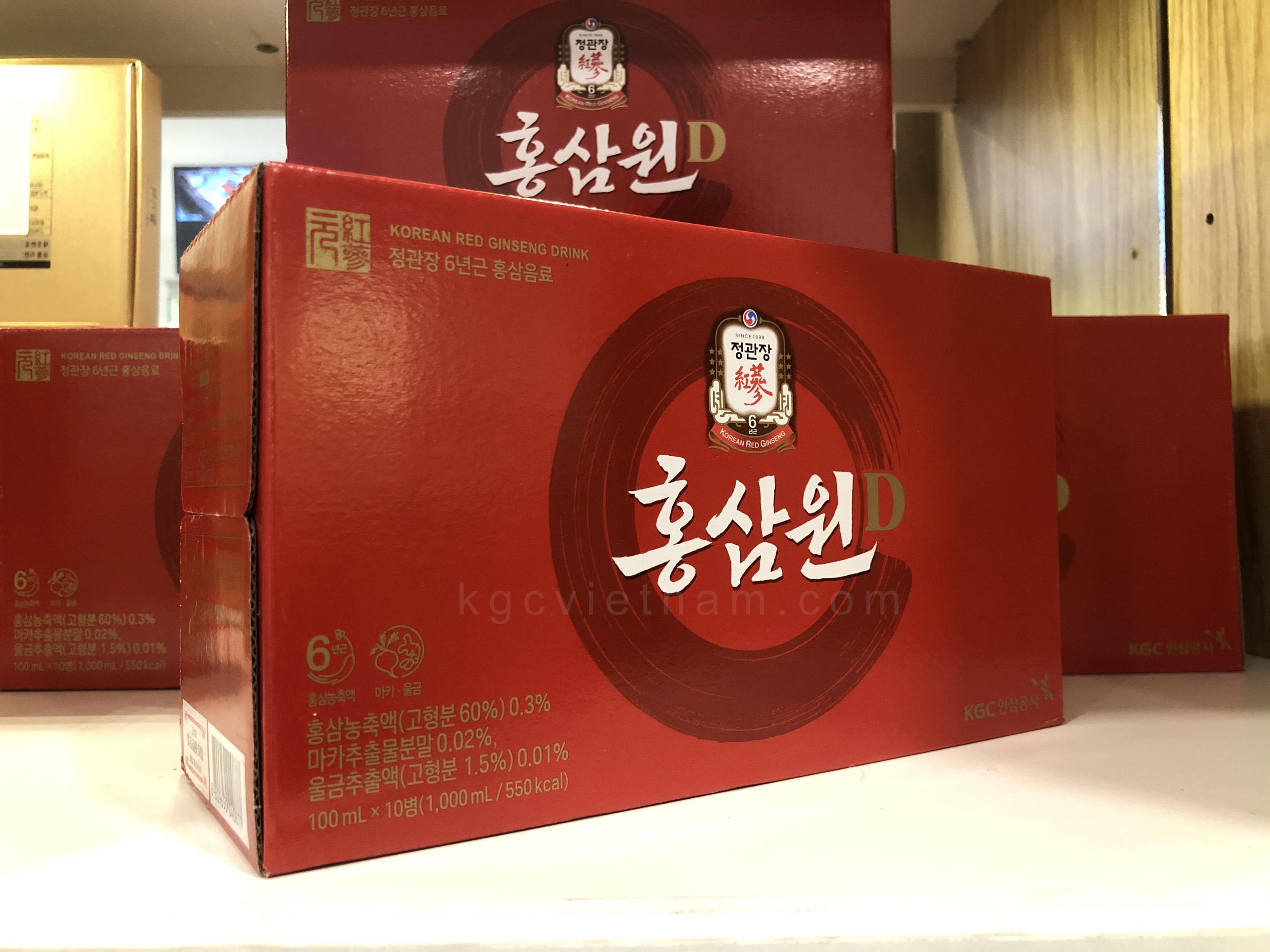 hồng sâm chính phủ kgc won 10 chai