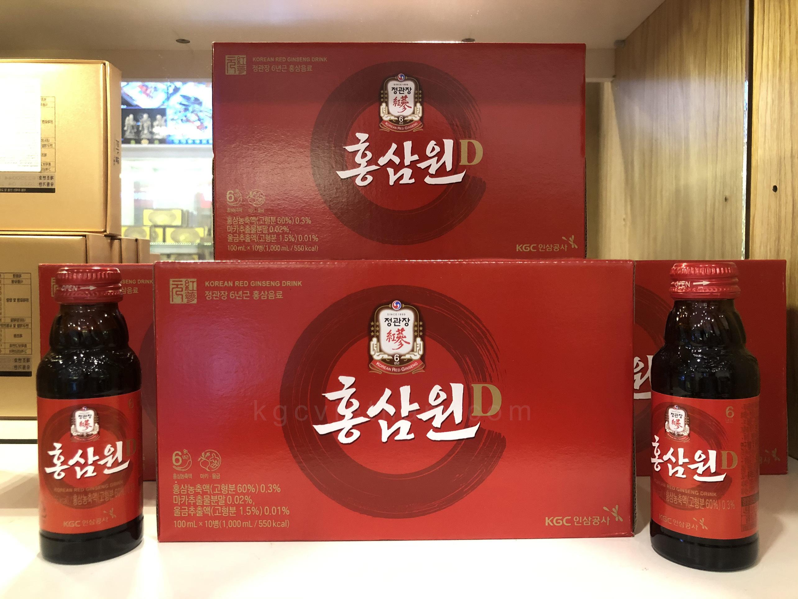 nước hồng sâm won kgc 10 chai