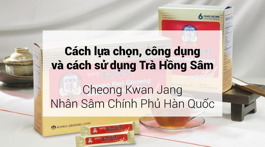 Trà hồng sâm KGC Hàn Quốc cao cấp