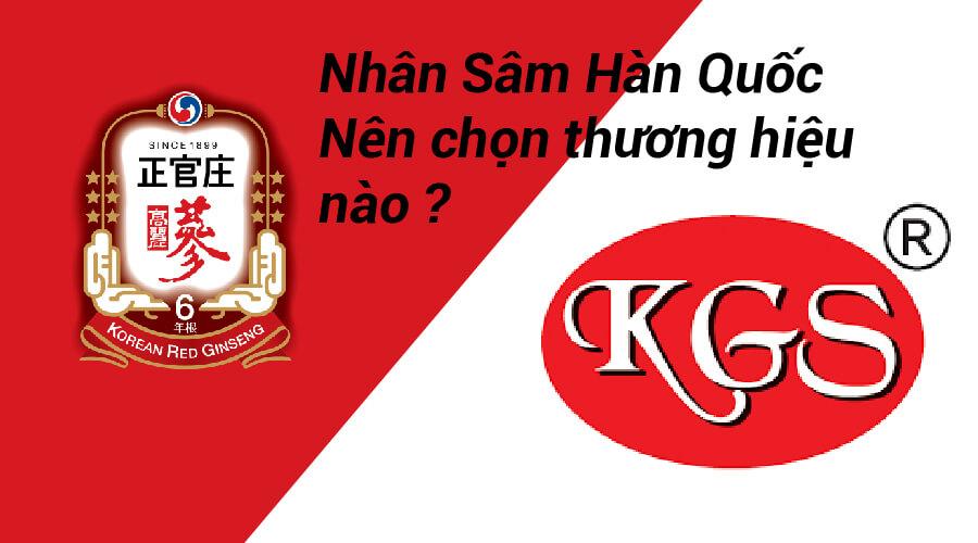 So Sánh Cao Hồng Sâm Hàn Quốc KGC Với KGS